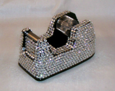 CRYSTAL-JEWELED-CRYSTAL-RHINESTONE-BLING-TAPE-DISPENSER-BEAUTIFUL