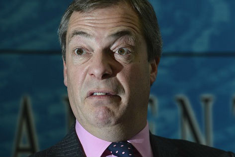 Nigel Farage unhappy