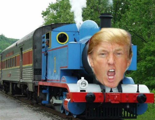 Donald Trump the Tank Engine