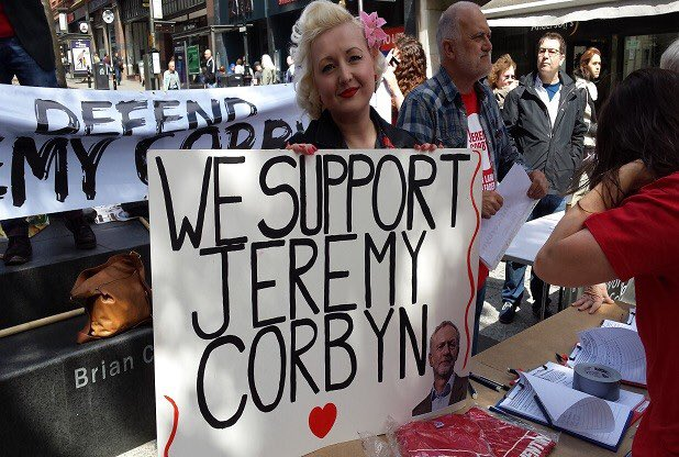 Jeremy Corbyn supporter
