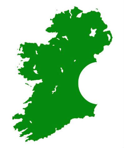 Ireland map with Apple bite