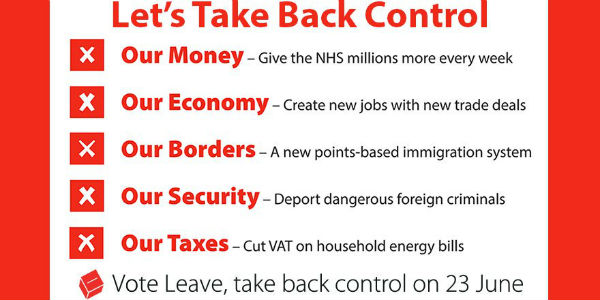 Vote Leave pledges