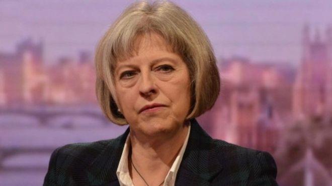 Theresa May stare