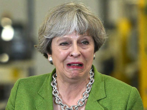 Theresa May weak and wobbly