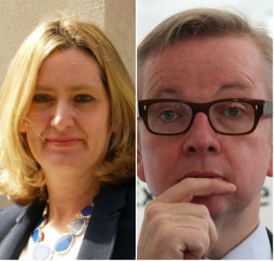 Amber Rudd and Michael Gove