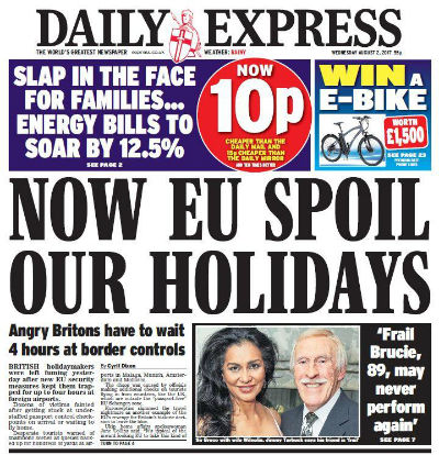 Daily Express August 2 2017