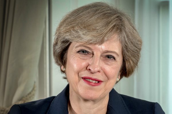 Theresa May PM portrait